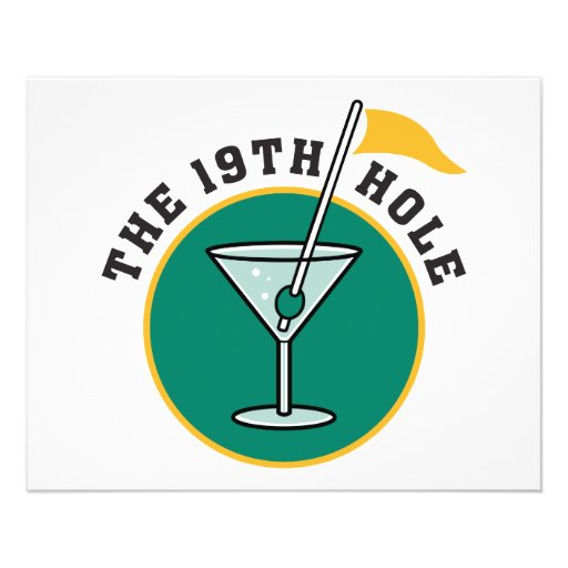 golf 19th hole drink time humor flyers