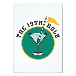 golf 19th hole drink time humor personalized invitations
