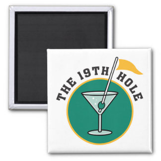 golf 19th hole drink time humor magnet