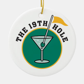 golf 19th hole drink time humor christmas ornament