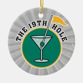 golf 19th hole drink time humor christmas ornaments