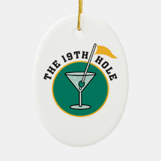 golf 19th hole drink time humor ornament