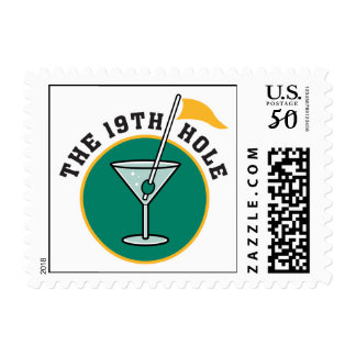 golf 19th hole drink time humor postage