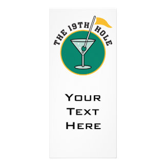 golf 19th hole drink time humor rack card