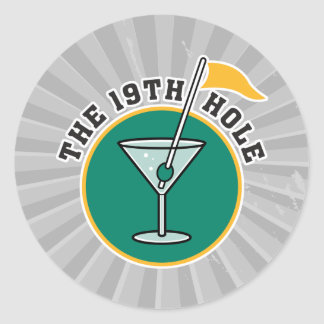 golf 19th hole drink time humor round stickers