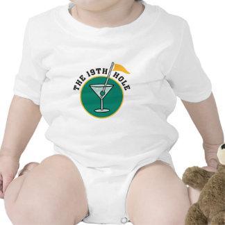 golf 19th hole drink time humor tee shirt