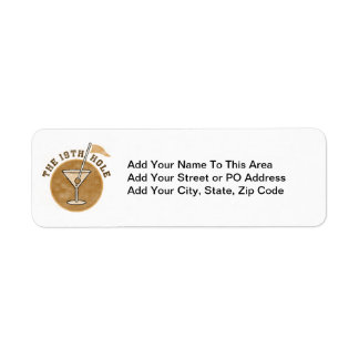 Golf 19th Hole T-shirts and Gifts Return Address Label