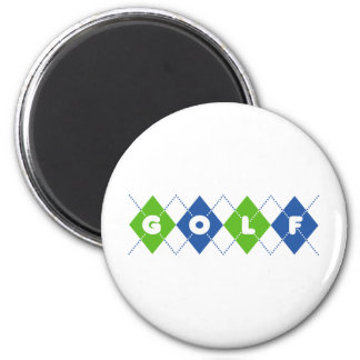Golf 2 Inch Round Magnet