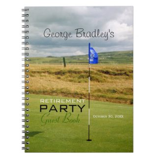 Golf 2 Personalized Retirement Party Guest Book