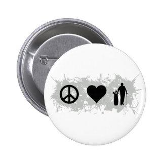 Golf 2 pinback button