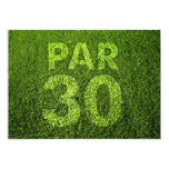 Golf 30th Birthday Party 5x7 Paper Invitation Card