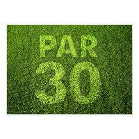 Golf 30th Birthday Party Invitation