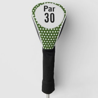Golf 30th birthday polka dot golfer's birthday golf head cover