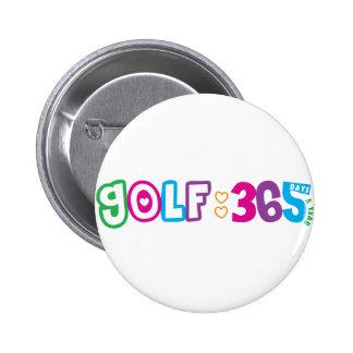 Golf 365 pin redondo de 2 pulgadas