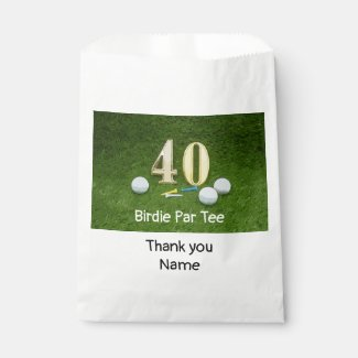 Golf 40th Birthday Anniversary with golf ball Favor Bag