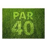 "Golf 40th Birthday Party 5"" X 7"" Invitation Card"