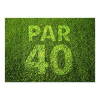 Golf 40th Birthday Party Invitation