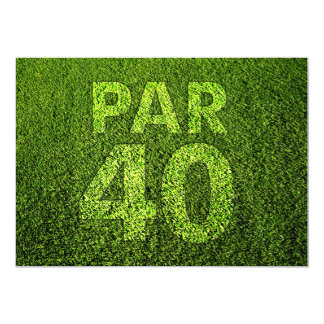 Golf 40th Birthday Party 5x7 Paper Invitation Card