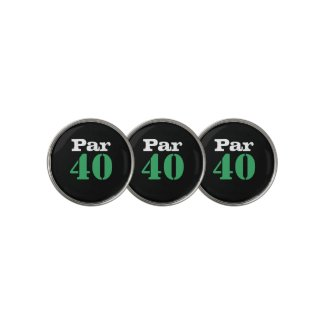 Golf 40th Birthday with number par forty Golf Ball Marker
