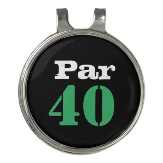 Golf 40th Birthday with number par forty Golf Hat Clip