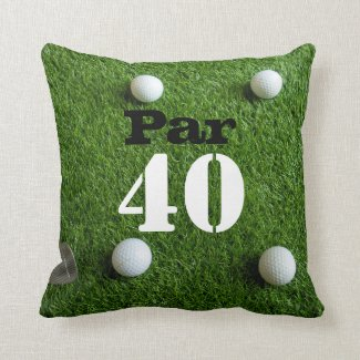 Golf 40th Forty year old birthday for golfer Throw Pillow