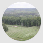 Golf (4) classic round sticker