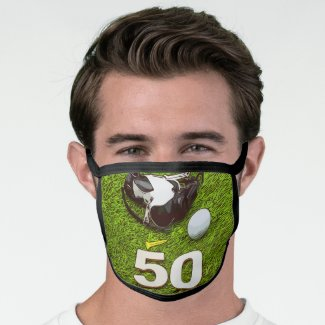 Golf 50th Birthday golfer All-Over Print Face Mask