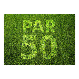 Golf 50th Birthday Party Card