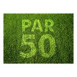 Golf 50th Birthday Party Custom Announcements