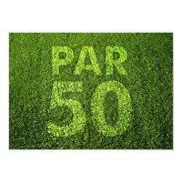 Golf 50th Birthday Party Invitation