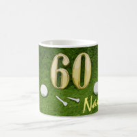 Golf 60th birthday Birdie Par tee for golfer Coffee Mug