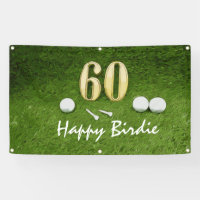 Golf 60th birthday Birdie Par tee for golfer golf Banner