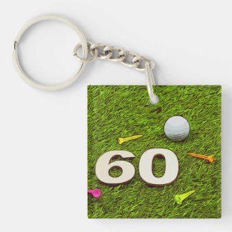 Golf 60th birthday golf Acrylic Keychain