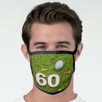 Golf 60th birthday golf All-Over Print Face Mask