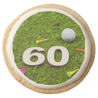 Golf 60th birthday golf Premium Shortbread Cookies