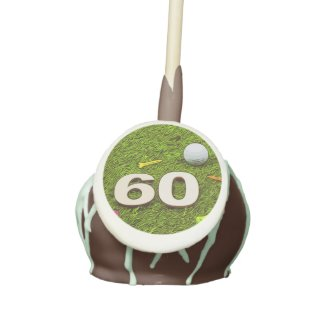 Golf 60th birthday golfer Cake Pop