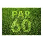 "Golf 60th Birthday Party 5"" X 7"" Invitation Card"
