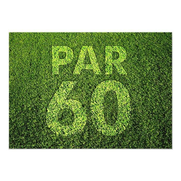 Golf 60th Birthday Party Card