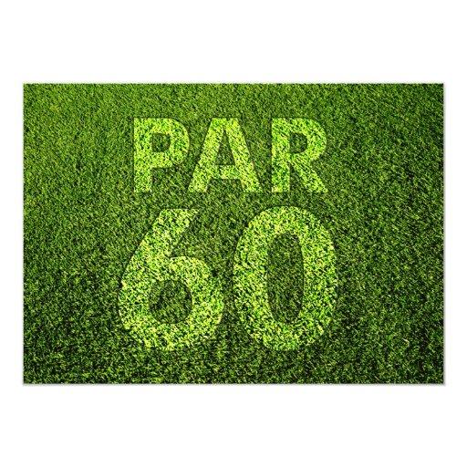 Golf 60th Birthday Party Custom Announcements