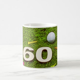 Golf 60th birthday with golf ball and tees Mug