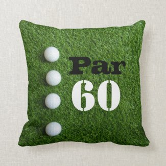 Golf 60th Sixty year old birthday for golfer Throw Pillow