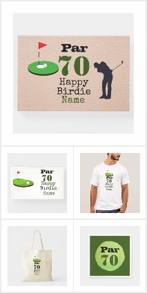Golf 70th Birthday  Gift Ideas and Party Supplies