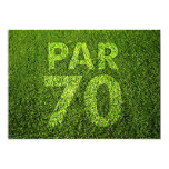 Golf 70th Birthday Party Personalized Invitations