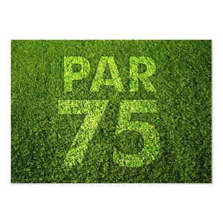 Golf 75th Birthday Party Card