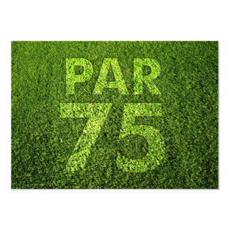 Golf 75th Birthday Party Custom Announcement