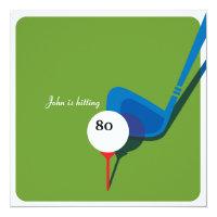 Golf 80th Birthday - Still Swinging! Invitation