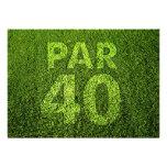 Golf a la 40.a fiesta de cumpleaños comunicados personalizados