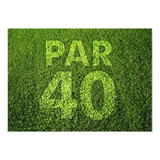 """Golf a la 40.a fiesta de cumpleaños invitación 5"""" x 7"""""""