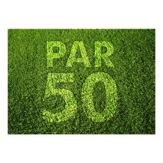 Golf a la 50 a fiesta de cumpleaños