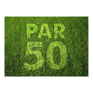 Golf a la 50.a fiesta de cumpleaños invitación 12,7 x 17,8 cm